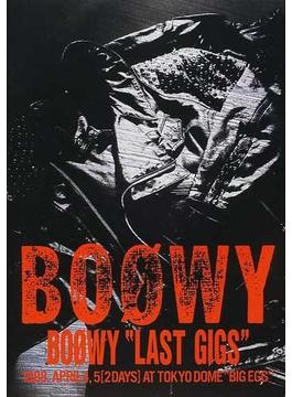 "Boøwy ""Last gigs"" 1988.April 4,5〈2days〉at Tokyo Dome""Big Egg"""