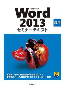 【期間限定価格】Microsoft Word 2013 応用 セミナーテキスト