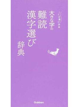 大きな字の難読漢字選び辞典
