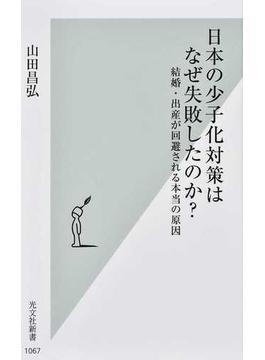 日本の少子化対策はなぜ失敗したのか? 結婚・出産が回避される本当の原因(光文社新書)