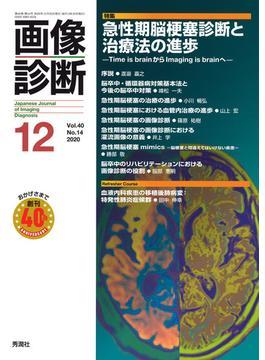 画像診断 Vol.40No.14(2020−12) 特集急性期脳梗塞診断と治療法の進歩