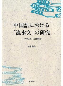 中国語における「流水文」の研究 「一つの文」とは何か