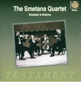 シューベルト:弦楽五重奏曲、ブラームス:弦楽四重奏曲第3番 スメタナ四重奏団、ミロシュ・サードロ